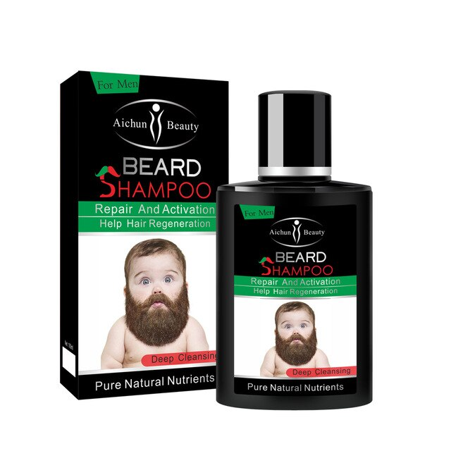 Men Beard Washing Shampoo Deep Cleansing Nourish Natural Repair Activation Luster Foam Care Fluid Beard Barbe Care NEW ARRIVAL