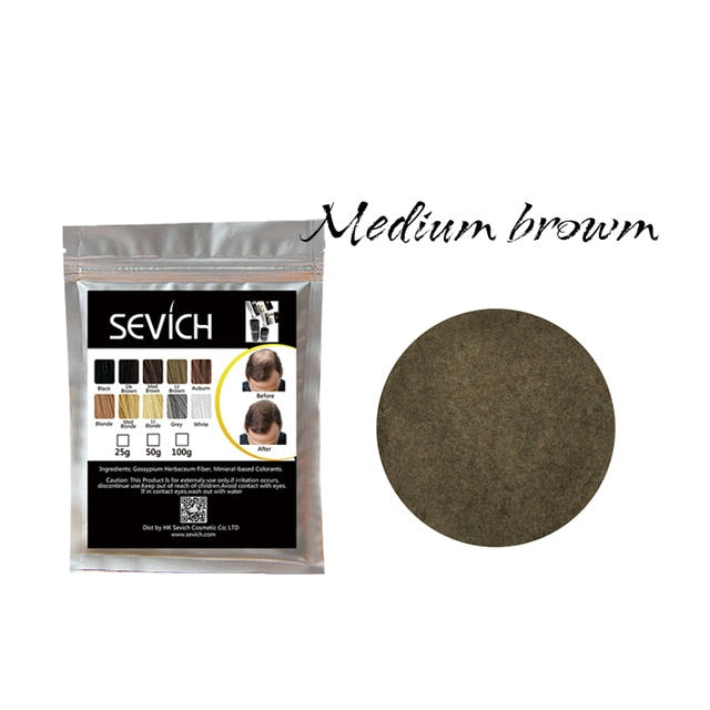 Sevich 100g Hair Building Fibers Hair Loss Concealer Thicken Powder Hair Care Product Growth Keratin Salon Hair Treatment