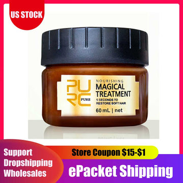 60ml Magical Treatment Mask 5 Seconds Repairs Damage Restore Soft Hair for All Hair Types Keratin Hair & Scalp Treatment Cream