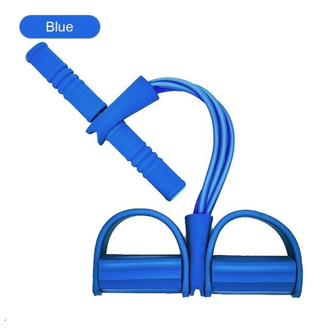 Yoga Pull Rope Four-Tube Multifunctional Pull Rope Pedal Elastic Rope Puller Abdominal Crunches Footstool Pull Rope Home Fitness