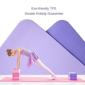 Yoga Mat Sport Pilates Fitness Pad TPE Yoga Supplies Workout Home Exercise Bodybuilding Equipment Sports Carpet 183*61*0.6cm