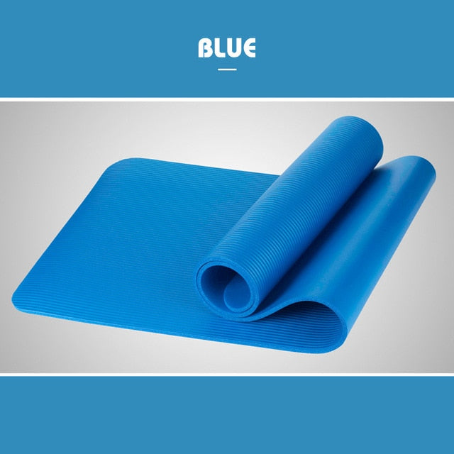 1830*610*10mm Yoga Mat Workout Elastic Non-slip Fitness Gymnastics Mats Bag Carrier Thick Knee Exercise Pad Accupressure Mat