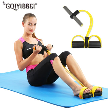 Elastic Pull Ropes Abdominal Exerciser Rower Belly Resistance Band Home Gym