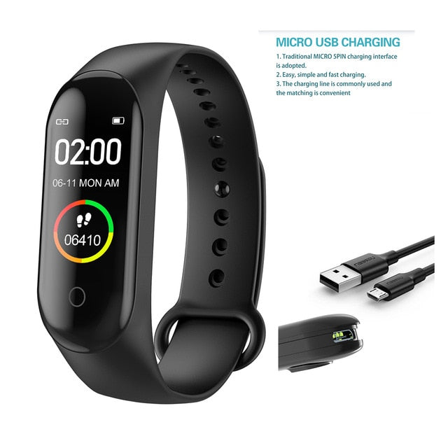 2020  Smart band M4 Wristband Blood Pressure Heart Rate Monitor smart Bracelet Health Fitness running Tracker Watch Pedometer