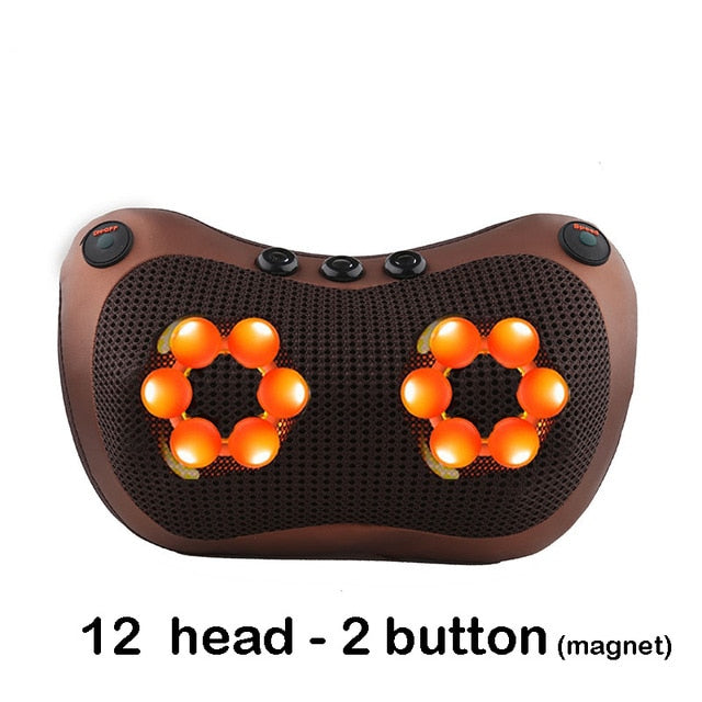 Relaxation Massage Pillow Vibrator Electric Neck Shoulder Back Heating Kneading Infrared therapy Massage Pillow