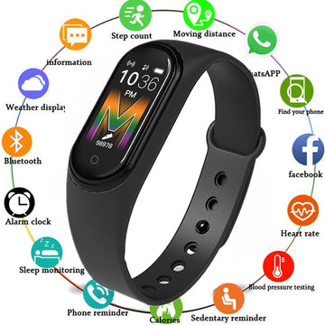 M5 Smart Band Fitness Tracker Smart Watch Sport Smart Bracelet Heart Rate Blood Pressure Smartband Monitor Health Wristband