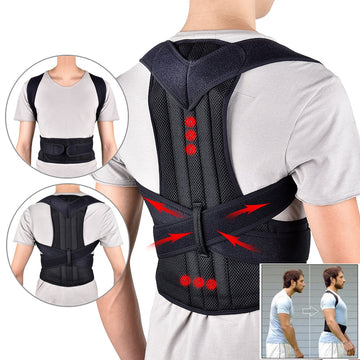 Back Waist Posture Corrector Adjustable Adult Correction Belt Waist Trainer Shoulder Lumbar Brace Spine Support Belt Vest