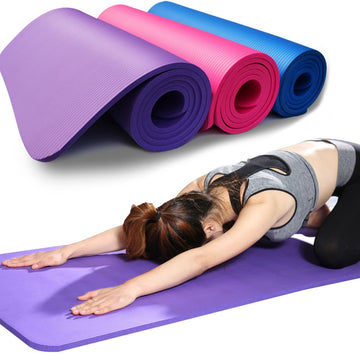 Hot 10mm Lengthened NBR Yoga Mat Widened Yoga Mat Multifunctional Sports Fitness Non-slip Yoga Mat Tapete De Yoga Antideslizante
