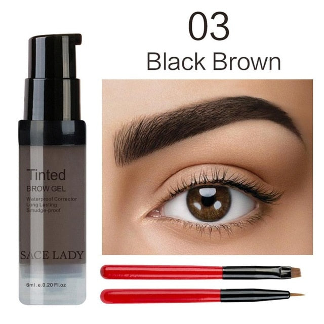 SACE LADY Eyebrow Gel Waterproof Long Lasting Tint Makeup Brush Set Brown Enhancer Eye Brow Wax Dye Cream Paint Cosmetics