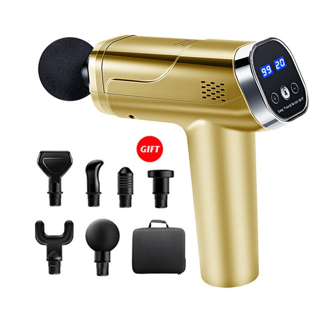 Massage Gun Fascia Gun Neck Massager Vibration Fitness Equipment Noise Reduction Design Electric Massager