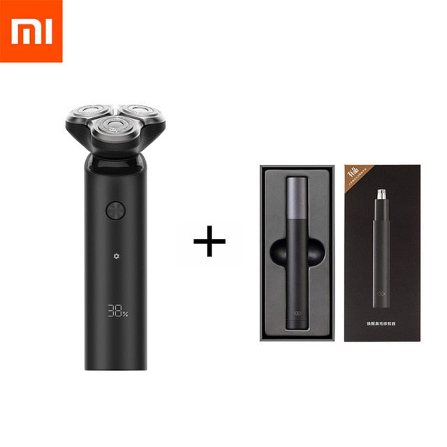 Xiaomi Mijia Electric Shaver S500 S500C 3 Head Flex Razor Dry Wet Shaving Washable Portable Beard Trimmer Face Cleansing 3 In 1