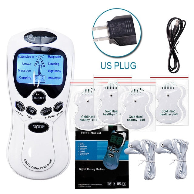 8 Models Electric herald Tens Muscle Stimulator Ems Acupuncture Body Massage Digital Therapy Machine Electrostimulator