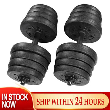 BESPORTBLE 30kg Dumbbell Weight Set with 16 Dumbbell Plates 2 Extension Bars 4 Nuts Adjustable Fitness Dumbbell Set