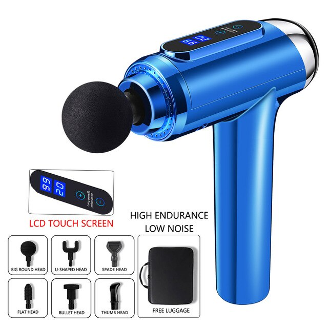 Electric Body Head Massager Impact Muscle Massage Physiotherapy Massage Gun Massager for Neck and Back Relaxer Massager Gun