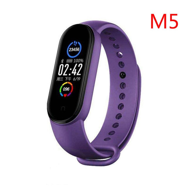 2020 New M5 Smart Band Fitness Tracker Smart Bracelet Smart Watch Sport Heart Rate Blood Pressure Monitor Health Smartband