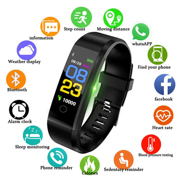 Sport Smart Watch Wristband Fitness Tracker Watch Health Heart Rate Band Blood Pressure Waterproof Smart Bracelet Smartband