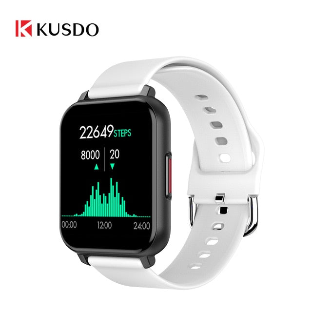 KUSDO 2020 New Smartwatch IP67 Waterproof Smart Watch Men Women Sport Fitness Bracelet Health Monitor For Xiaomi Apple Android