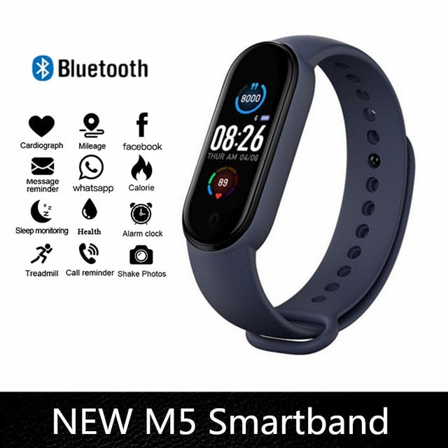 M4  M5 Smart Band Fitness Tracker Smart Watch Smarthwatch Bracelet Heart Rate Blood Pressure Smartband Monitor Health Wristband