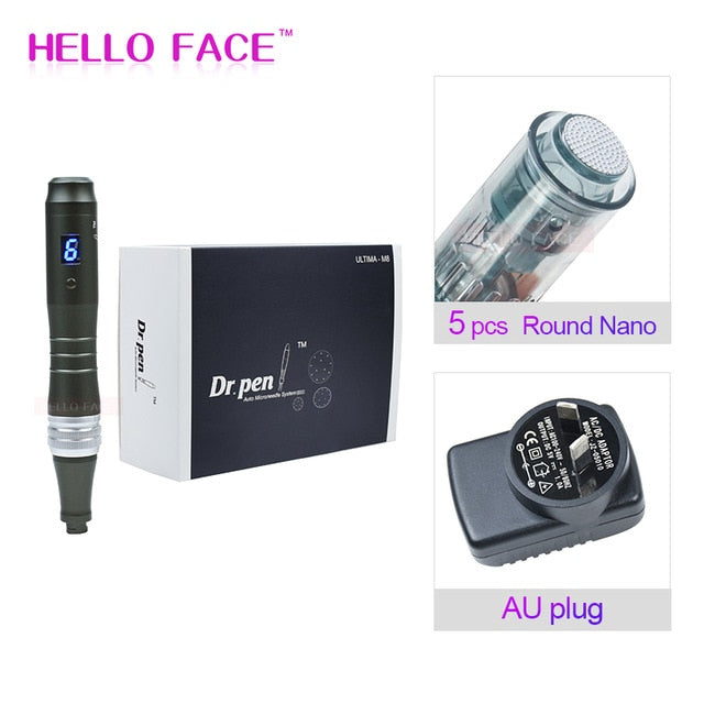 Dr pen Ultima M8 With 7 pcs Cartridges Wireless Derma Pen Skin Care Kit Microneedle Home Use Beauty Machine
