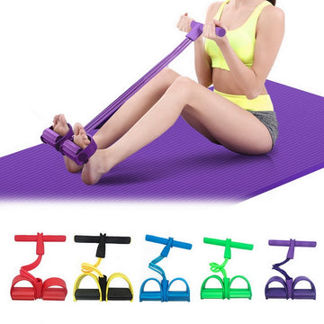 Fitness Gum 4 Tube Resistance Bands Latex Pedal Exerciser -up Pull Rope Expander Elastic Bands Yoga Equipment Pilates Workout