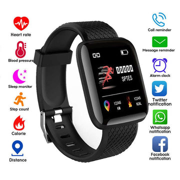 116 Plus Smart Watch Health Wristband Sports watch Blood Pressure Heart Rate Pedometer Fitness Tracker Smart Bracelet Waterproof