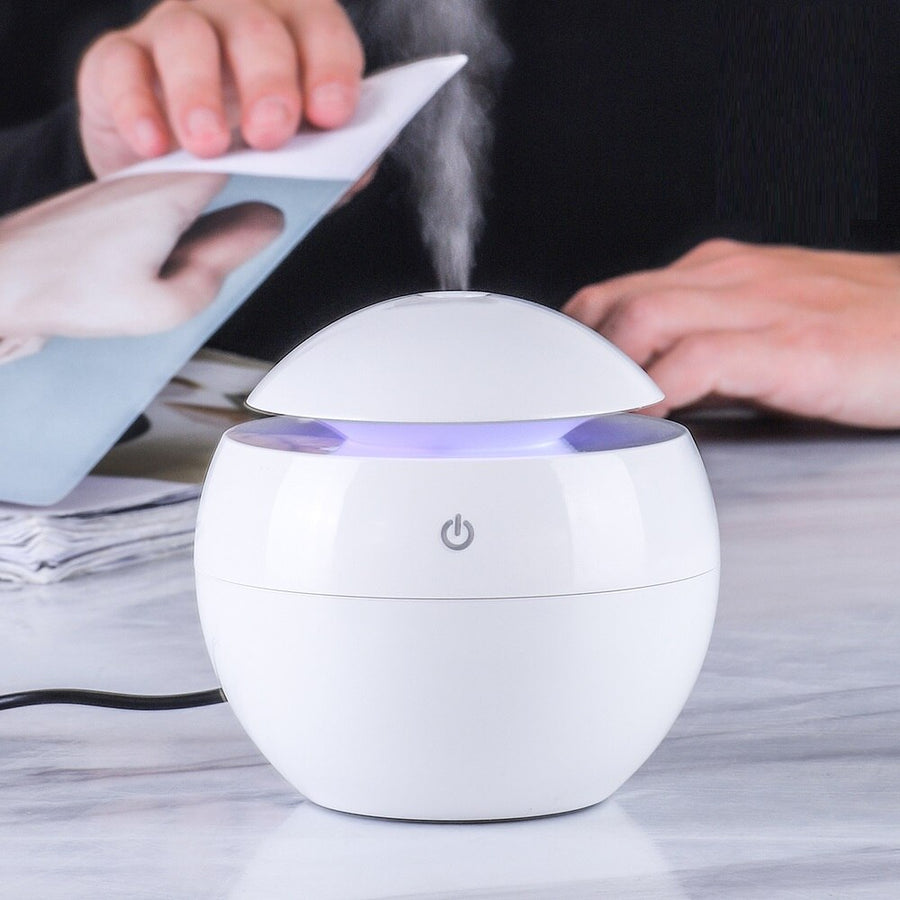 KBAYBO 130ML Mini USB Aroma Essential Oil Diffuser Ultrasonic Mist Humidifier Air Purifier  Change LED Night light