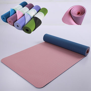 183*61*0.6CM TPE Yoga Mat Pad Non-slip Slimming Exercise Fitness Gymnastics Mat Body Building Esterilla Pilates Carpet Mats