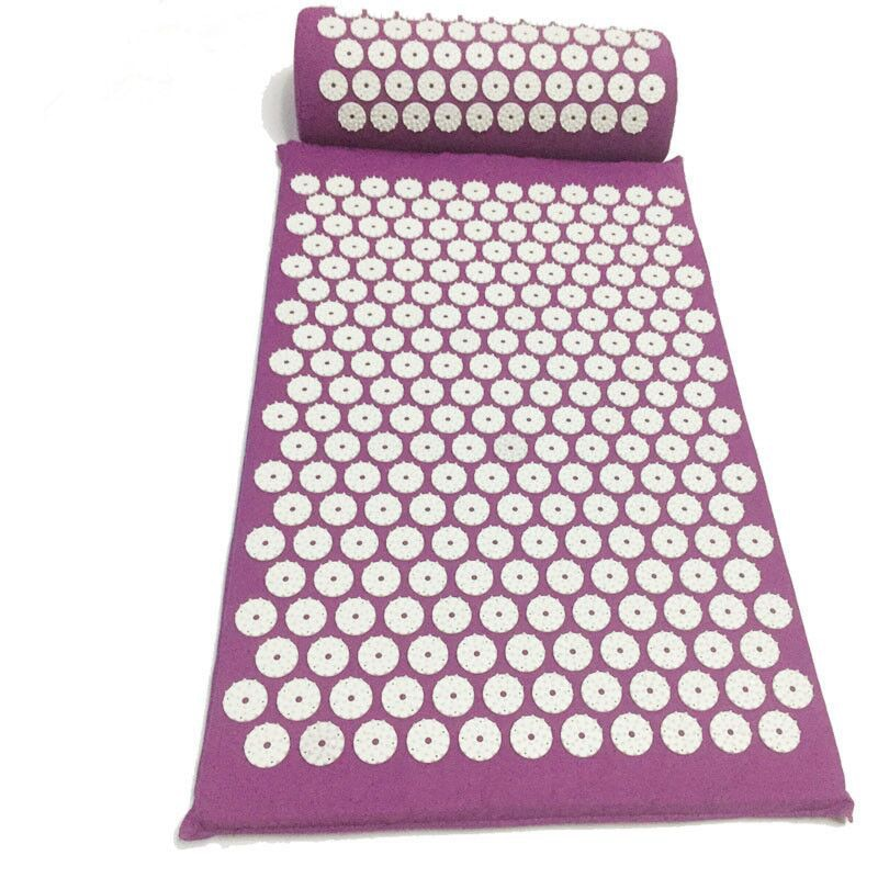 Acupressure Massager Mat Cushion Yoga Mat For Body Head Relieve Stress Pain Yoga Pad Muscle Tension Spike Mat and Pillow