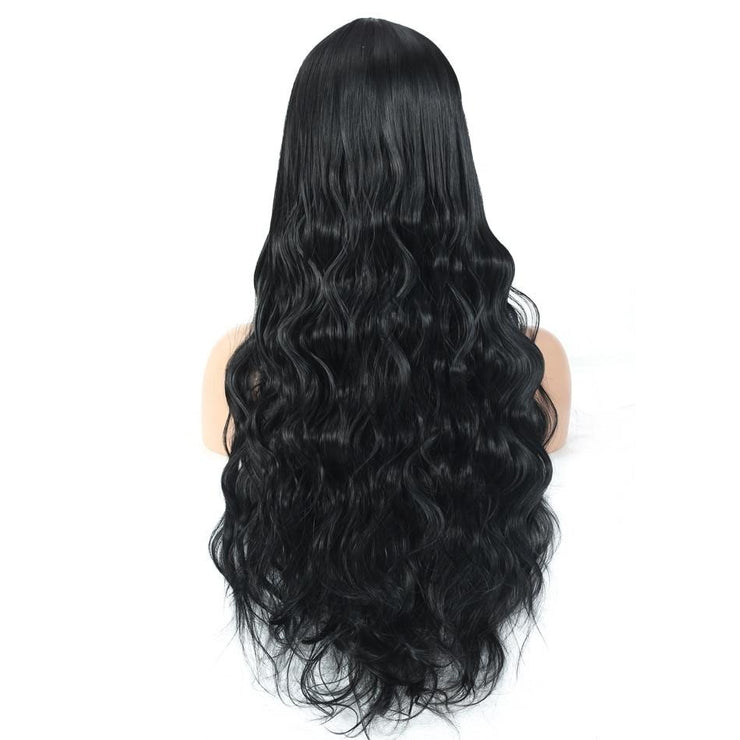 Pure Black Long Wave Hairstyle Wig - Hella Gorgeous Co.
