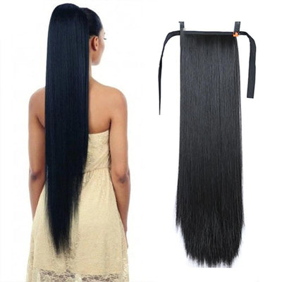 Synthetic Hair Heat-Resistant Straight Ponytail - Hella Gorgeous Co.