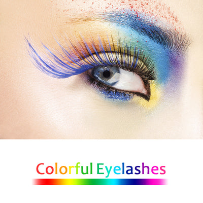 Colorful False Mink Eyelashes - Hella Gorgeous Co.