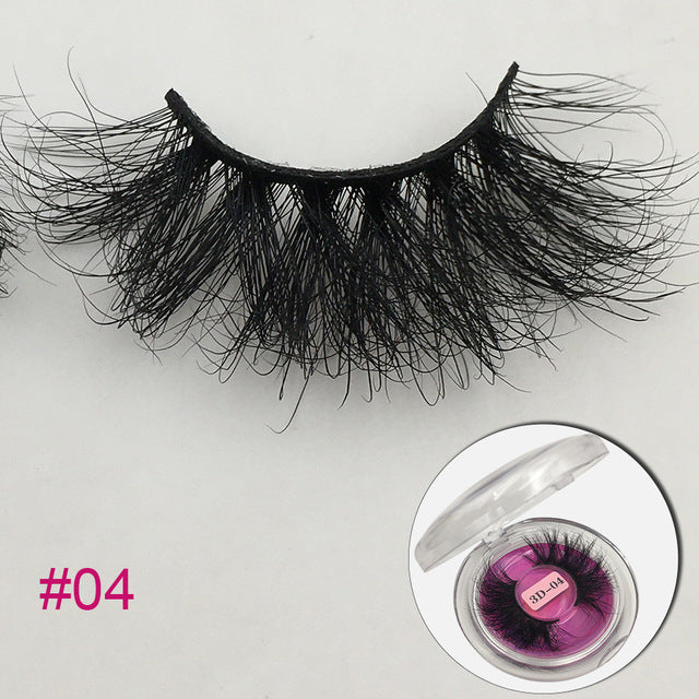Dramatic 18-25mm Fluffy Messy 3D Lashes - Hella Gorgeous Co.