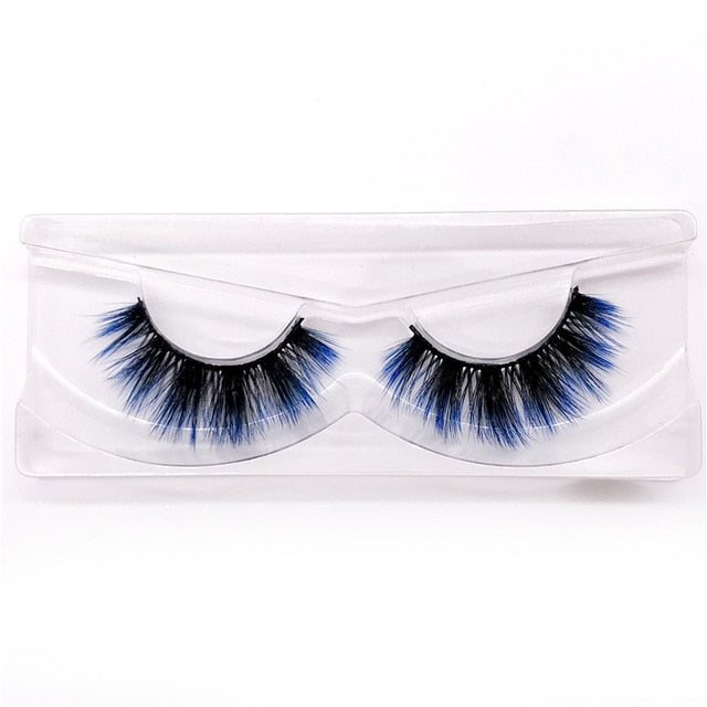 Natural Fluffy Dramatic Colorful Lashes - Hella Gorgeous Co.