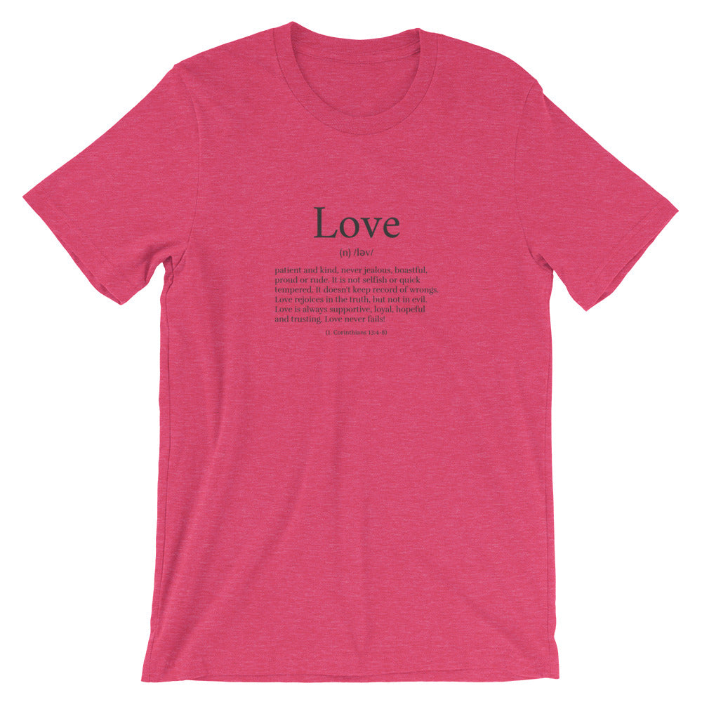 love definition t shirt