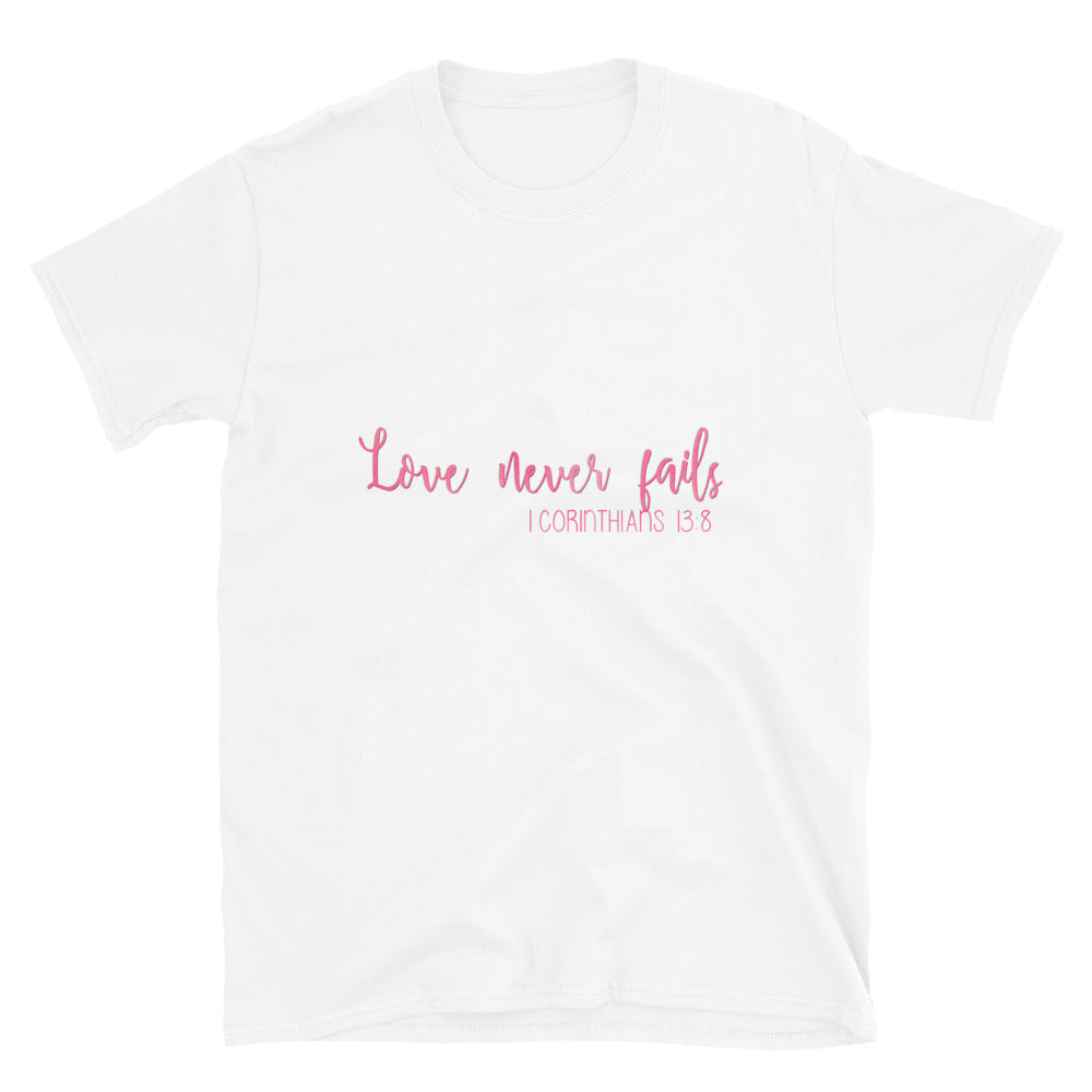 Love never fails christian t shirt | Bible verse shirt | Inspiration shirt | unisex crewneck | christian tee