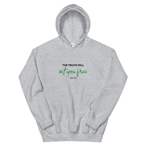 Christian hoodie | The truth will set you free | Christian clothing | Scripture hoodie | Unisex hoodie