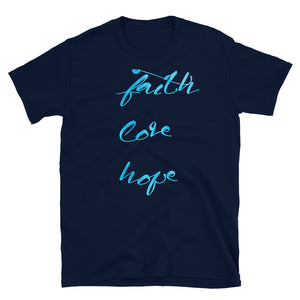Faith Love Hope christian t shirt | Bible verse shirt | Inspiration shirt | unisex crewneck | christian tee