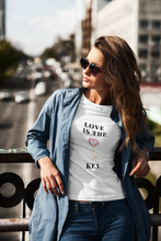 Load image into Gallery viewer, Women's short sleeve t-shirt Love is the key