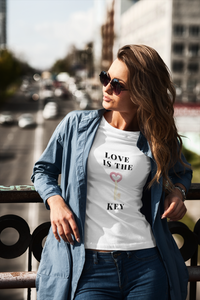 Women's short sleeve t-shirt Love is the key