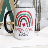 Rainbow Christmas mugs