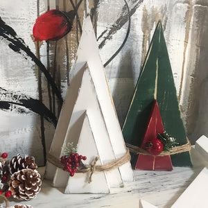 O' Christmas Tree!!  These wooded trees are just the perfect touch to all your holiday decor.