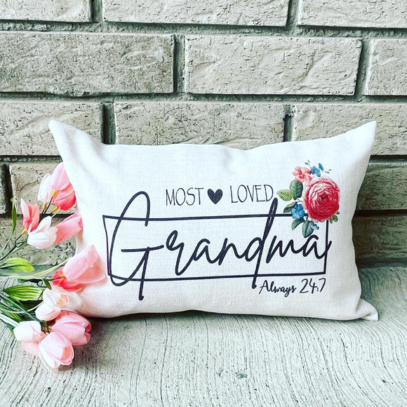 Grandma and Mom pillow
