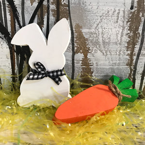 Easter bunny and carrot set