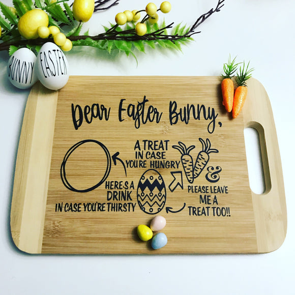 Leave this tray out for the Easter bunny.  They will love it!!