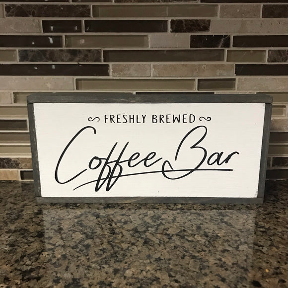 Coffee Bar farmhouse sign