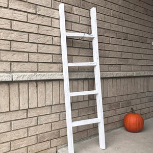 Rustic blanket ladder