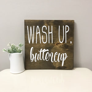 Wash up Buttercup bathroom sofn