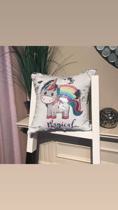Magical Unicorn - Sequins Pillow