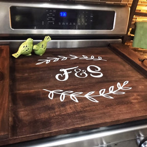 Double Initial Monogram - Stove Top Covers