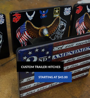 Trailer Hitch Covers (Flag Theme)